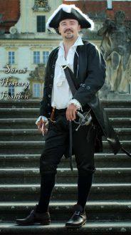 Černý pánský rokoko kabátec
