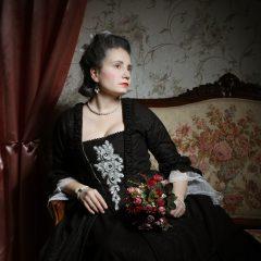 Robe a la Francaise černé
