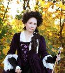 Robe a la Francaise fialové